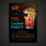 Disco cocktail party poster Stock Image