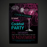 Disco cocktail party poster Royalty Free Stock Photos