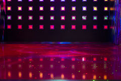 Disco with colorful lights Royalty Free Stock Photography