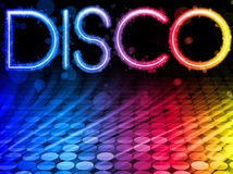 Disco Colorful Waves Background vector illustration