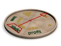 Disco com instruções de uma condição financeira. Imagens de Stock Royalty Free