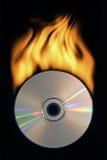 Disco compacto ardiente Imágenes de archivo libres de regalías