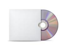 Disco compacto con la cubierta. Fotografía de archivo