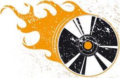 Disco compacto de Grunge Imágenes de archivo libres de regalías