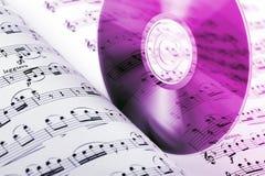 Disco compacto de la música Foto de archivo libre de regalías