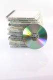 Disco compacto e casos Imagem de Stock Royalty Free