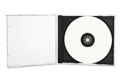 Disco compacto en blanco Fotos de archivo libres de regalías