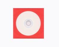 Disco compacto en blanco fotografía de archivo