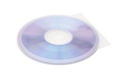 Disco compacto y cubierta en el fondo blanco con la trayectoria de recortes Imagen de archivo