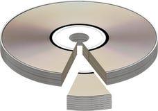 Disco con el gráfico del gráfico de sectores Imagen de archivo
