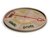 Disco con instrucciones de una condición financiera. ilustración del vector