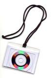 Disco cortado en una cuerda Imagen de archivo libre de regalías