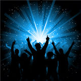 Disco crowd Royalty Free Stock Images