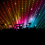 Disco crowd background Stock Photography
