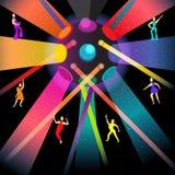 Disco da dança no partido da noite ilustração stock