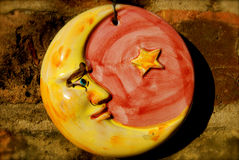 Disco da lua e da estrela Imagem de Stock