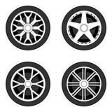 Disco da roda com pneumático Imagem de Stock