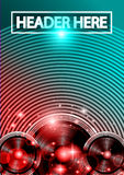 Disco Dance Art Design Poster with Abstract shapes and drops of colors behind Royalty Free Stock Photos