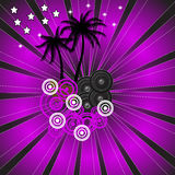 Disco dance background Stock Images