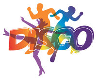 Disco dance background Stock Image