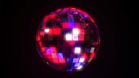 Disco dance ball spinning stock video