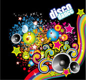 Disco Dance Colorful Flyer Royalty Free Stock Photo
