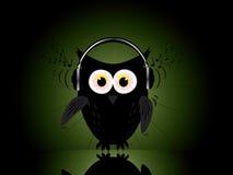 Disco dance design with owl. Background image vector illustration