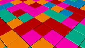 Disco Dance Floor. Abstract background. 3d rendering royalty free illustration