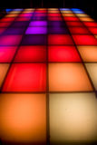 Disco dance floor with colorful lighting Royalty Free Stock Photography