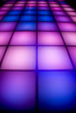 Disco dance floor with colorful lighting Stock Photography