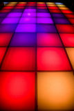 Disco dance floor with colorful lighting Royalty Free Stock Image