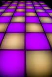 Disco dance floor with colorful lighting Stock Photo