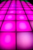 Disco dance floor with colorful lighting Royalty Free Stock Photo