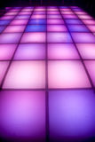 Disco dance floor with colorful lighting. Colorful square shape lighting of disco dance floor Royalty Free Stock Photos