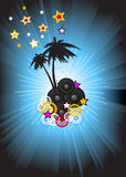 Disco dance music background Stock Image