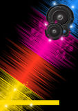 Music colorful background Royalty Free Stock Photos