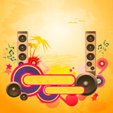 Disco Dance Tropical Music Background. Royalty Free Stock Photo