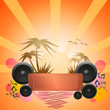 Disco Dance Tropical Music Flyer. Stock Photo