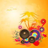Disco Dance Tropical Music Flyer. Royalty Free Stock Image