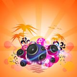 Disco Dance Tropical Music Flyer Royalty Free Stock Images