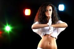 Disco dancer stock image