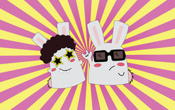 Disco dancer & rock star. Disco dancer & rock star. Vector illustration Royalty Free Stock Photo
