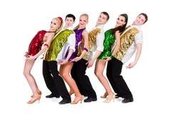 Disco dancer team Stock Photography