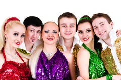 Disco dancer team Stock Photo