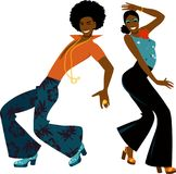 Disco dancers Royalty Free Stock Photos