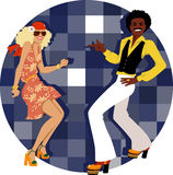 Disco dancers Stock Photos
