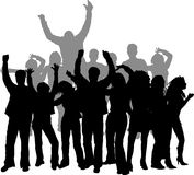 Disco dancing. Group of young people dancing Royalty Free Stock Photos