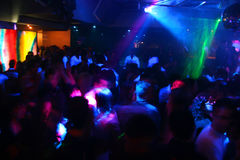 Disco Dancing People. Happy dancing people in a disco night club Royalty Free Stock Images