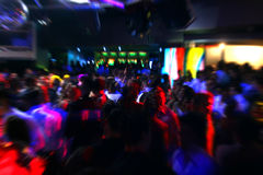 Disco dancing people. Happy dancing people in a disco night club Royalty Free Stock Photos