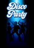 Disco Dancing People. Silhouette Illustration of young energetic couples disco dancing on the floor, party, lifestyle theme stock illustration